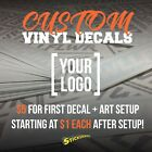 Completely Custom Die Cut Vinyl Decal Sticker Car Logo Business Wall Image