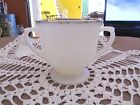 Vintage Fire King Oven Ware Gold Rimmed Milk Glass Sugar Bowl Mad