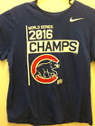 Nike Mens Size XL Chicago Cubs 2016 World Series Champions Blue S S Shirt