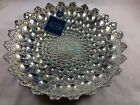 Decorative Bowl Plate Handmade Decorated Glass Painted with 100 Silver Azurra