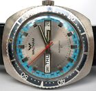 VINTAGE MENS WALTHAM AUTOMATIC RACING DIAL DIVER DIVE WATCH NOS TROPICAL BAND