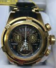 Invicta Reserve Bolt Zeus Twisted Metal Gold Plated Swiss Watch - Model 90021