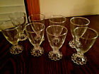 BERWICK BOOPIE DEPRESSION CLEAR JUICE GLASSES ANCHOR HOCKING 4 1/2