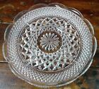 Five Section Serving Tray Anchor Hocking Wexford Diamond Point Crystal Clear