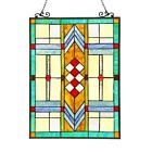 Stained Glass Chloe Lighting Mission Window Panel CH3P808GG25 GPN 175 X 25 New
