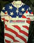 Vtg All American Bicycle  Fitness Center Cool Max Cycling Jersey M