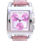AUTHENTIC COACH  Chronograph Watches Silver/pink StainleStainless Steel St...
