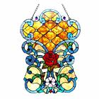 Stained Glass Chloe Lighting Victorian Window Panel CH1P979VF24 GPN 24 Height