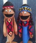 2 Native American Indian Puppets 13 tall for Ministry teachers Education