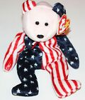 (New) Ty Beanie Babies Spangle USA Flag Bear 1999 NWT Plush Stuffed Animal Baby