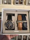 Fossil Men's Watch Set With 3 Interchangeable Leather Bands - BQ2281SET