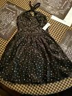 HOLLISTER DRESS SIZE 1 NWT BLACK  FANCY WITH SILVER STARS HOLIDAY /PROM