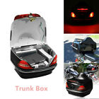 12V Motorcycle Trunk Box W/Taillight Fit For Honda Yamaha Suzuki Vulcan Cruiser