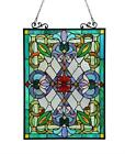 Stained Glass Chloe Lighting Victorian Window Panel 18 X 25 Handcrafted New