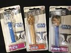 Lot of 5 Star Wars and Clone Wars PEZ dispensers, Storm Trooper and Ewok