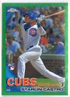 599 Starlin Castro Cubs 2010 Topps Chrome Wrapper Green REF RC Rookie SP