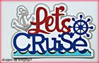 CRAFTECAFE CRUISE TRAVEL TITLE paper piecing premade scrapbook page diecut album