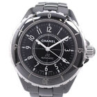 AUTHENTIC CHANEL H 0685 38 mm J12 Watches black ceramic mens blackDial