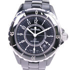 AUTHENTIC CHANEL H 0685 J12 Watches ceramic mens blackDial