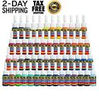 Skin Candy Tattoo Ink Set Primary Color Pigment Professional Supply Kit 54 Pack