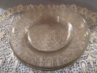 ARC FRANCE OR ANCHOR HOCKING CLEAR GLASS DINNER PLATES 9 3/4 INCH SET OF 8 SALE