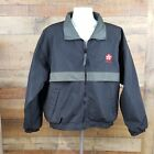 Vintage Hartwell Sports Texaco Jacket Mens Size Large Black Vented Nylon