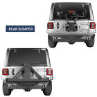 Rear Bumper w/ Tire Carrier Receiver Hitch & D-Rings For Jeep Wrangler JL 18-19
