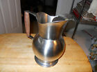 VINTAGE ONEIDA STAINLESS STEEL LARGE PITCHER IN THE OHS330 PATTERN WOOD HANDLE
