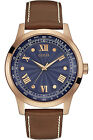 GUESS W0662G5,Men Dress,Leather Strap,Rose Gold Tone,Stainless Steel Case,50m WR
