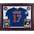 Kris Bryant Chicago Cubs Signed Blue Authentic Jersey Display Fanatics.