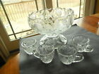 EAPG Cambridge Glass Co Inverted Strawberry childs punch set