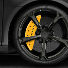 Yellow MGP Caliper Covers w Bar  Pony fits 2015 2019 Ford Mustang EcoBoost