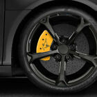 Yellow MGP Caliper Covers w Bar  Pony for 2015 Ford Mustang GT