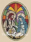 Christmas Nativity Stained Glass Counted Cross Stitch COMPLETE KIT No4 391