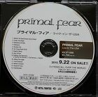 PRIMAL FEAR Live In The USA Rare 2010 Japan 14-Track CD