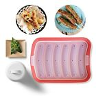 6 in 1 Silicone Lazy Sausage Making Mold Hot Dog Maker Mould DIY Baking Tool BS