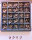HUGE Box Of Embroidered Applique Iron On Alphabet Letters Vintage Coat Of Arms