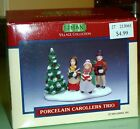 VTG LEMAX VILLAGE COLLECTION 1994 PORCELAIN CAROLLERS TRIO ACCESSORIES BOX