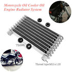 Aluminum Motorcycle Oil Cooler Oil Engine Radiator Fit for 125CC 250CC Dirt Bike