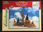 LEMAX Village Collection - 2000 DEER AT THE POND Poly-Resin Figurine - NIP