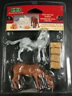 LEMAX Village Collection - FEED FOR THE HORSES Poly-Resin Figurines 12511A - NIP