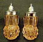 Vintage Indiana Glass Marigold Diamond Point Salt and Pepper Shakers