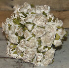 VINTAGE CHARM ROSE BOUQUET White Roses Wedding Flowers Wedding Home Decor New