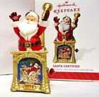 HALLMARK 2014  Santa Certified 2nd in the series - Jack in the Box ornament NEW