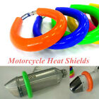 1x Motorcycle Dirt Bike Exhaust Protector Cover Guard Heat Shield Protect Engine