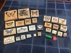 LOT of 29 Butterfly  Dragonfly Rubber Stamps Assorted Brands  Sizes