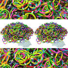 TROPICAL Colored TIE DYE Rubber Authentic Bands 1200 pc for Loom Bracelet Refill