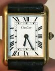 Vintage Cartier Tank 18K Gold Electroplated Manual Winding Watch - Unpolished