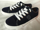 Tommy Hilfiger TW Aerien Lace Up Blue Fuzzy Casual Sneakers Shoes Womens 6 new