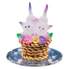 Glass Baron Handcrafted Colorful Playful Kittens Twice The Fun On Brown Basket